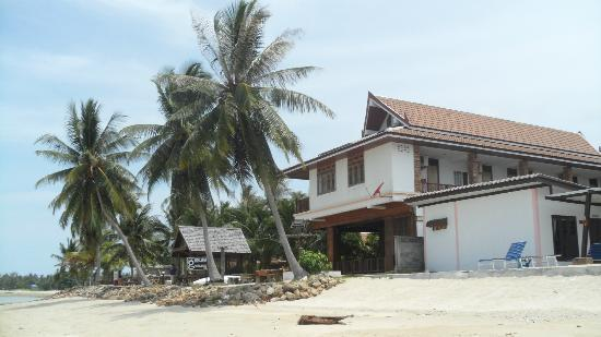 First Villa Beach Resort: View from the beach