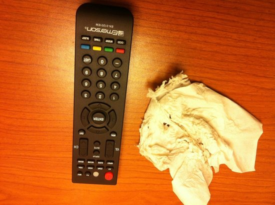Monticello, Nowy Jork: TV remote was filthy