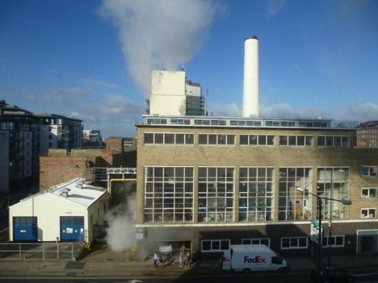 View from our window london road heat power station for Hotels 02 arena london