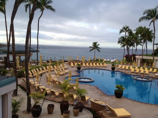 Four Seasons Resort Lana'i at Manele Bay: View from breakfast buffet