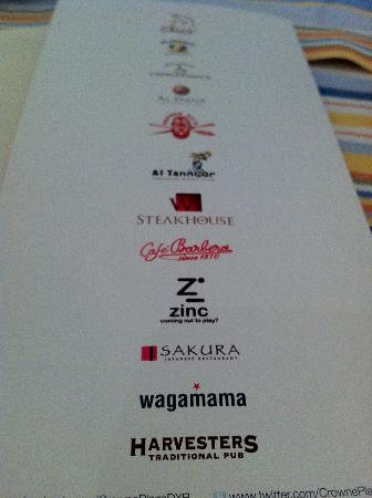 The names chains available in the hotel picture of for Dubai best hotel name