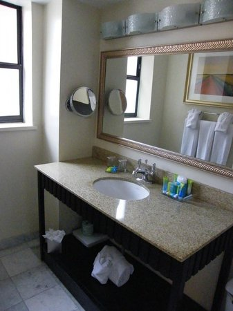 Radisson Plaza-Warwick Hotel Philadelphia: the bathroom...