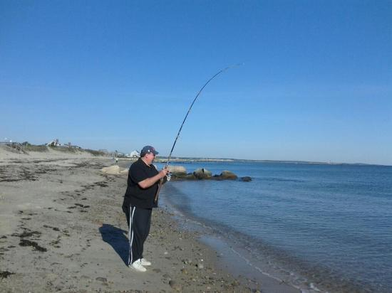 Sandwich Lodge & Resort: fishing at Sandwich beach just down the road