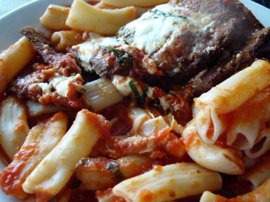 Salvatore's Restaurant: Eggplant Parmesan with House Made Rigatoni