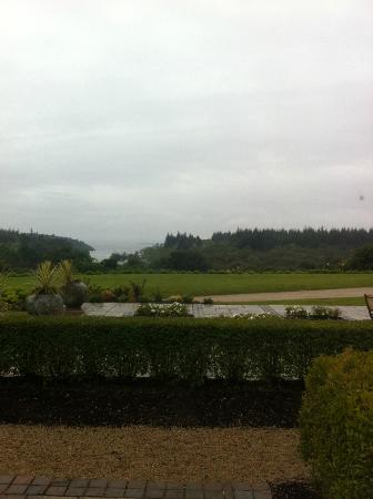 The Lodge at Ashford Castle: View from bedroom (cloudy day)