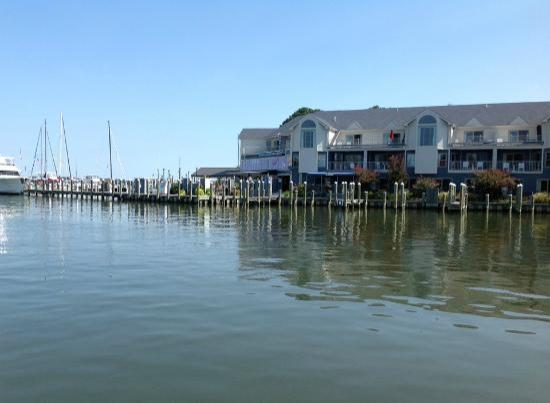 St. Michaels Harbour Inn Marina & Spa: View of Harbour Inn from Crab Claw Restaurant