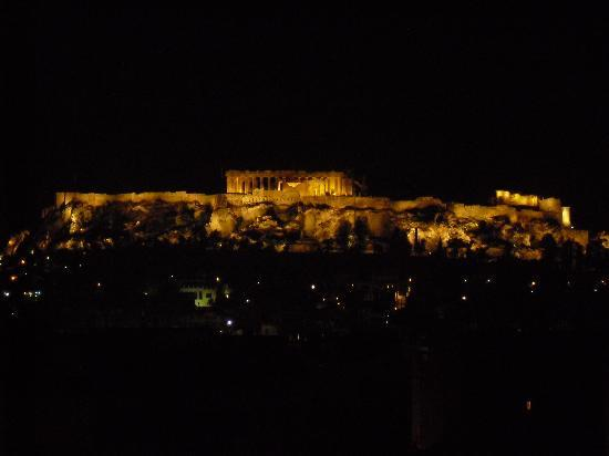 Arion Athens Hotel: View of the Acropolis from the hotel roof top terrace