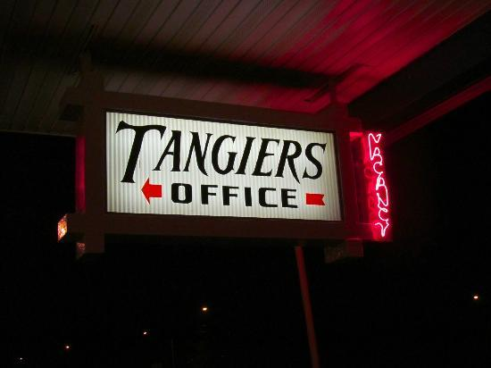 Tangiers Resort Motel: Office sign