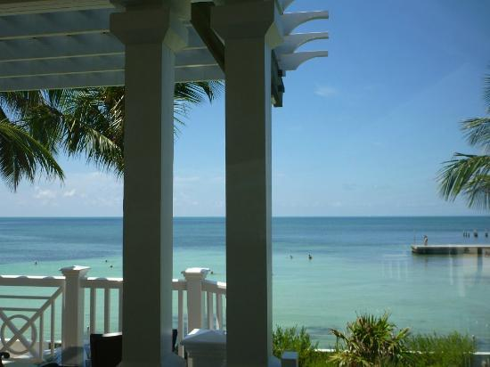 Southernmost on the Beach: View from our room in the morning