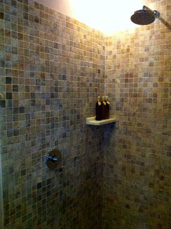 Kenanga Boutique Hotel: shower area in the bungalow