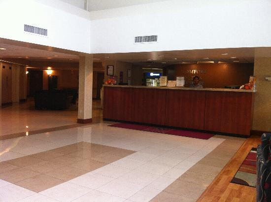 Comfort Suites Allentown: Bright and clean lobby. Friendly front desk staff