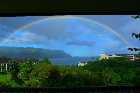 Hanalei Bay Resort: rainbows every morning