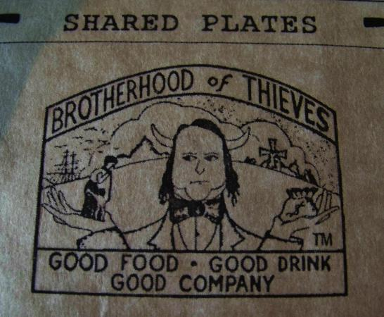 Brotherhood of Thieves: picture of part of the menu