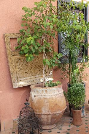 Riad Ajebel: Detalle en la terraza