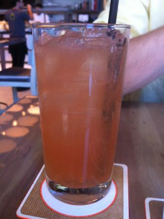 Island Creek Oyster Bar: Husband's drink