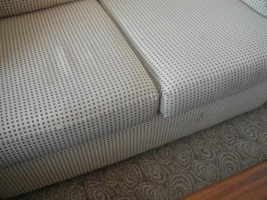 Ramada Hotel and Suites London Docklands: Cushion and sofa stains