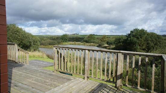 Hartland Forest Golf Parc: Waterside Lodge view