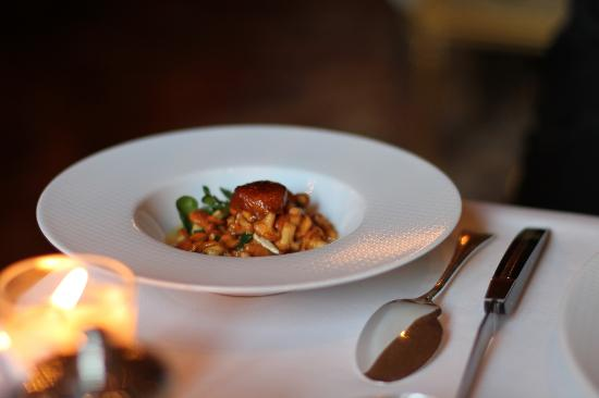 Chanterelles served with the veal  (49041892)