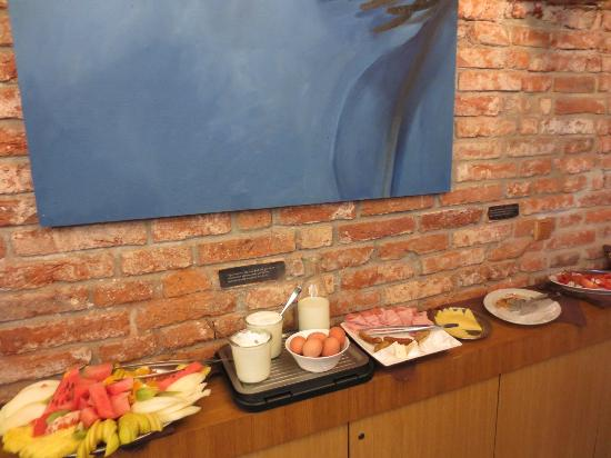 Miss Sophie's Hotel: one of the breakfast counters, the other has cereal, spreads & nuts plus made to order hot foods