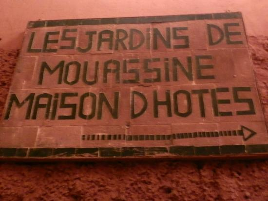 Les Jardins de Mouassine: Well sign posted