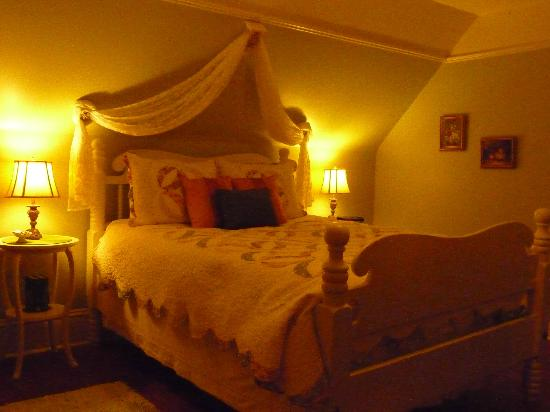 Country Stiles Bed & Breakfast: Lovely lace canopy over bed!