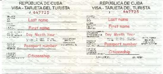 how to get tourist card for cuba