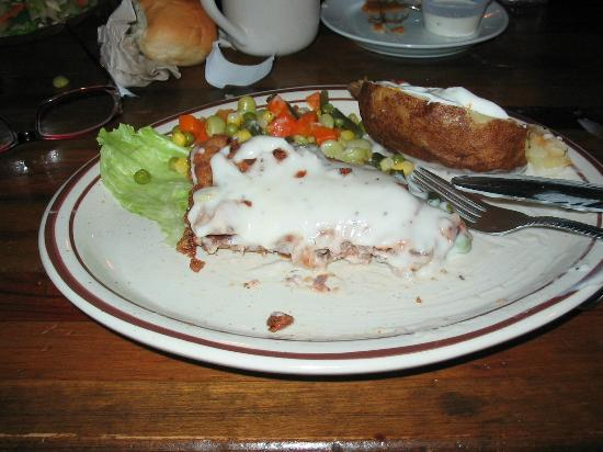Eagle Nest, NM: 1/2 of 1/2 of the Chicken Steak!