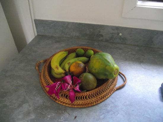 Bella Beach Bungalows: welcome bowl of fruit