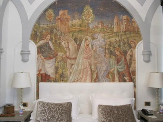 The St. Regis Florence: Fresco in our room