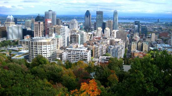 Hotel du Fort: View from Mount Royal Park