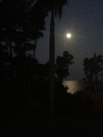 Full moon from the verandah at Sealords