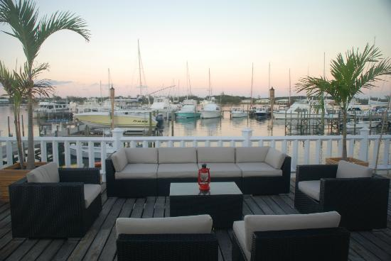 Green Turtle Cay: View of the Marina from the Jolly Roger Bar & Bistro Deck