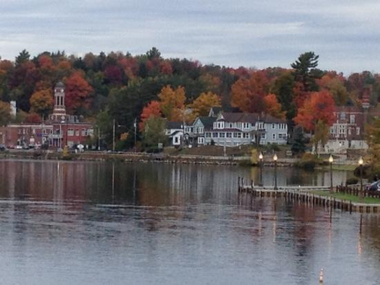 Adirondack Motel: view from right outside our room at Adirondack Hotel. beautiful!