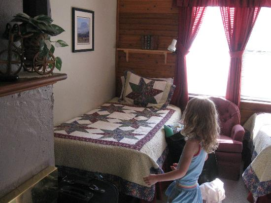 Crandell Mountain Lodge: Twin Bed
