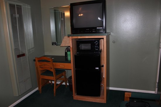 One Horse Motel:                   TV, microwave and refrigerator