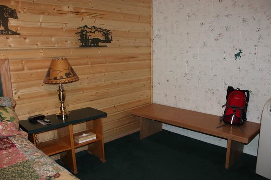 One Horse Motel:                   Room has a bit of character
