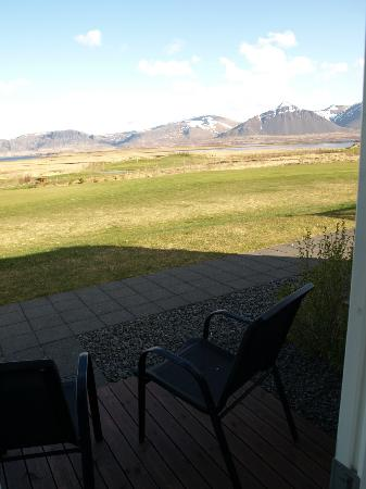 Icelandair Hotel Hamar: View out door.