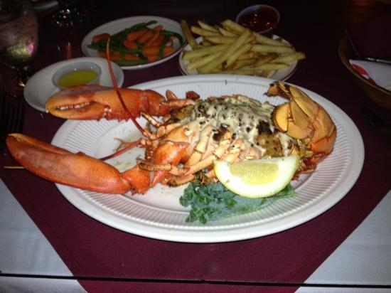 Baked Stuffed Lobster - Picture of Chart Room, Bar Harbor ...