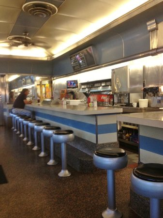 Mattapoisett, : counter view of diner