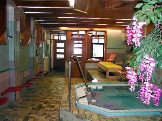 Muhlbach am Hochkonig, Austria: Whirlpool, Dampfbad, Sauna, Kneippbecken