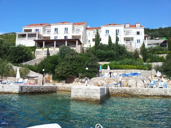 Sudurad, Хорватия: the hotel from the sea