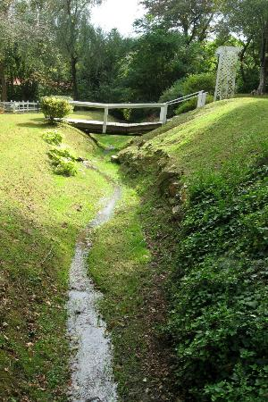 Folkestone Inn: Small creek in front of inn
