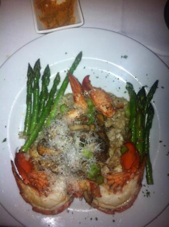 Red Sky: lobster risotto with chanterelle mushrooms and asparagus ...