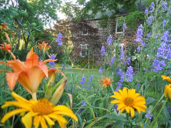 Battlefield Bed and Breakfast Inn: Summer flowers at Battlefield Bed & Breakfast