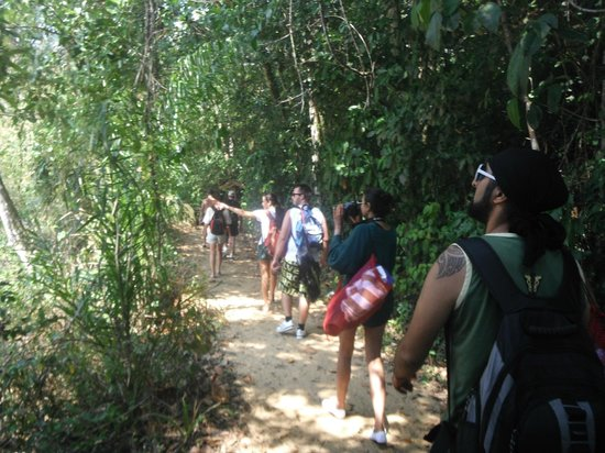 Lagoa Azul: 1 hour walking in the deep tropical forest