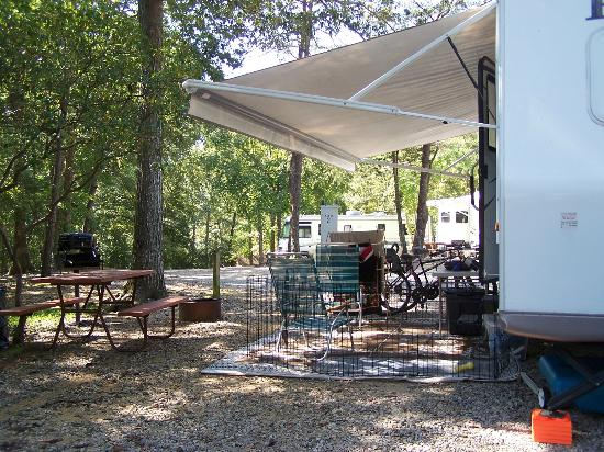 Williamsburg KOA Campground: Campsite