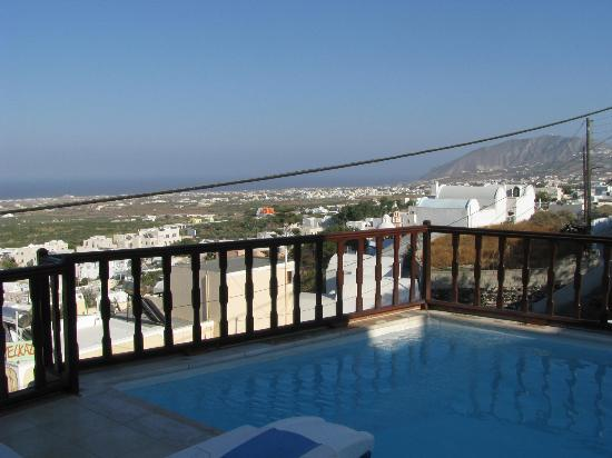 Amerisa Suites: Looking to sea from the balcony of a suite