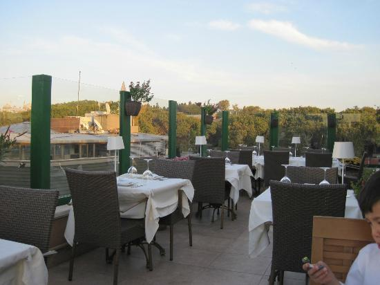 Exterior terrace seating picture of imbat restaurant for Terrace 45 restaurant