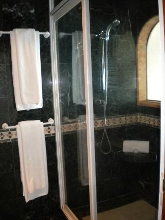 Hotel Villa Rolandi: One side of the shower