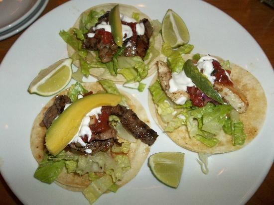 Pacific Reef Resort - Gold Beach: steak/fish tacos from the restaurant